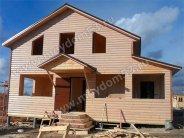 Каркасный дом с обшивкой блок-хаусом