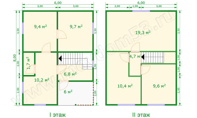 Строительство дома 8 на 8 своими руками 9