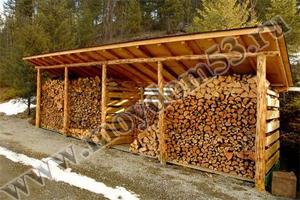Баня своими руками с дровяником 597